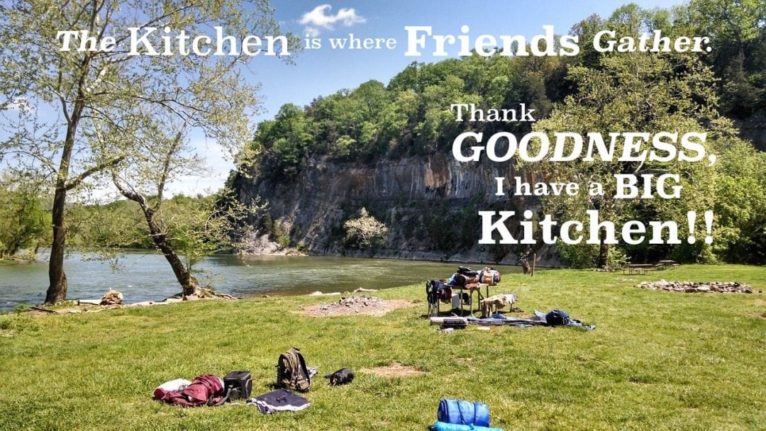 the kitchen is where friends gather. thank goodness I have a big kichen.