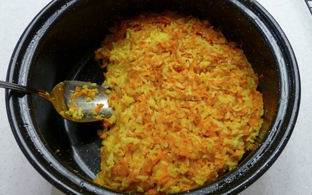 Cheese Carrot Rice Casserole
