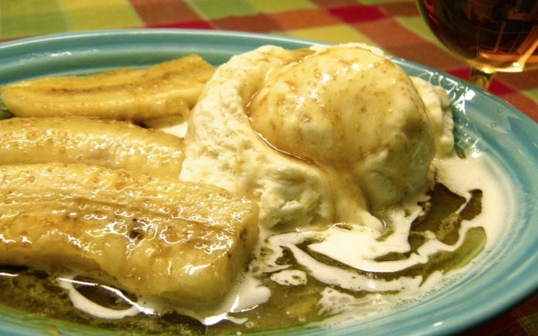 Butter-Rum Bananas (flameless bananas foster)