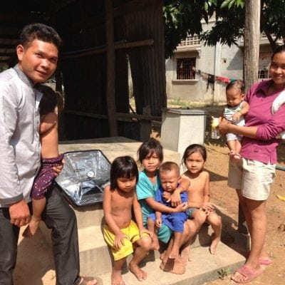 Cambodia family who love their sunflair solar oven