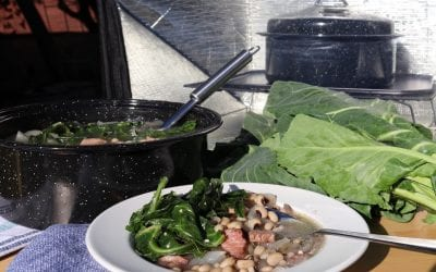 Black-Eyed Peas, Collards, and Ham Soup