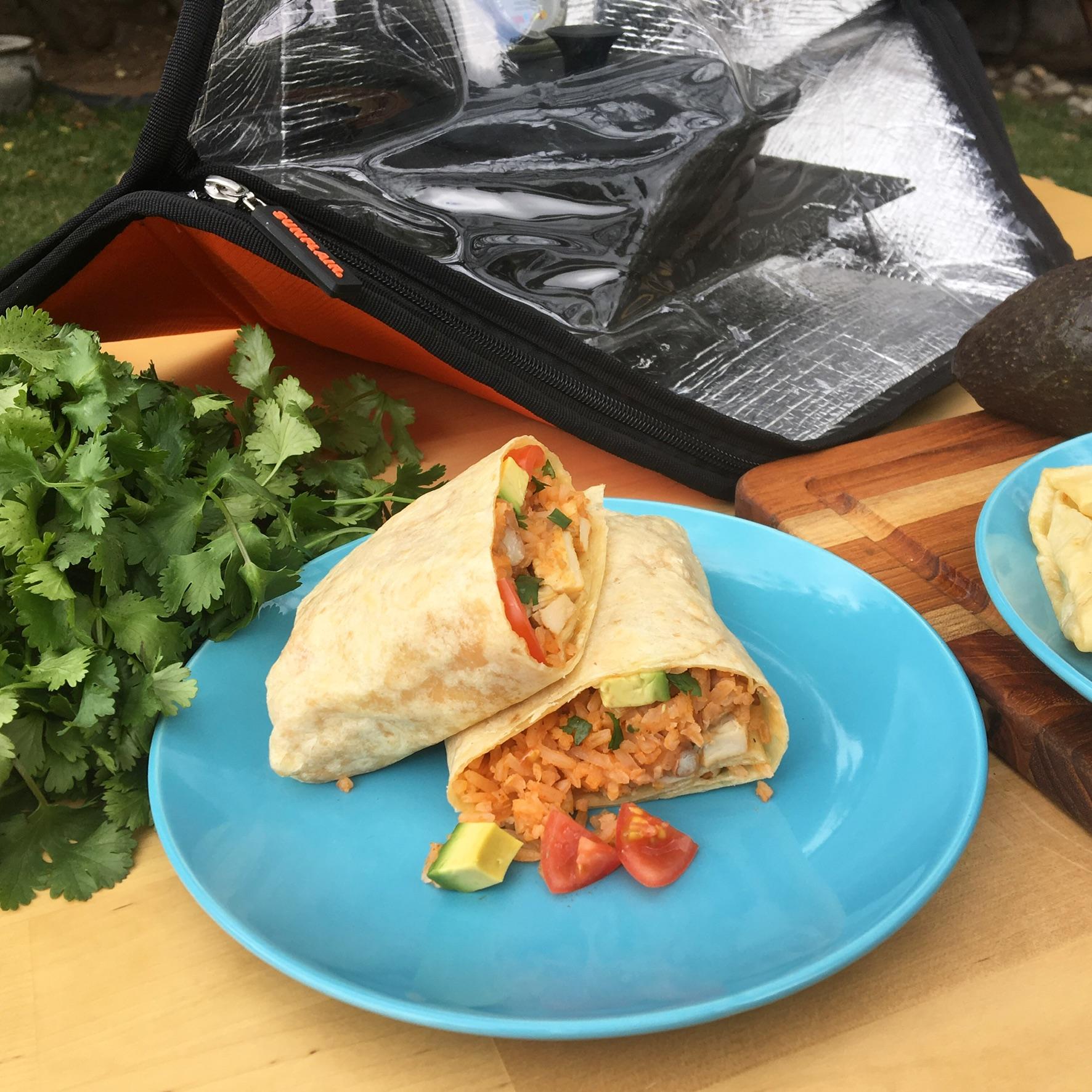 Slow Cooked Chicken Burrito